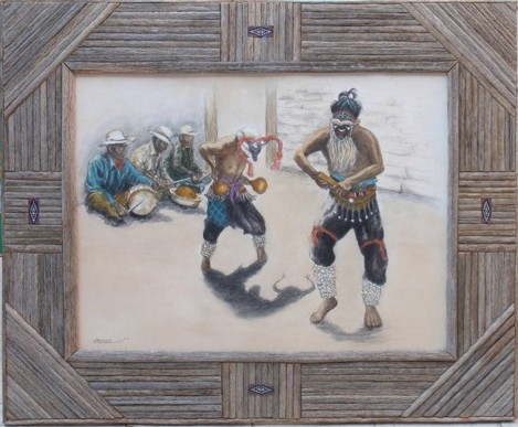 'Framed Pascola Dancer'