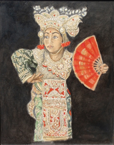 'Temple Dancer' - The 'Temple Dancer' is a study in concentration as she dances in her elaborate costume.